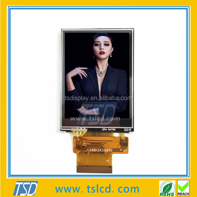 TFT active matrix 2.4 inch lcd display with RTP ZIF connector