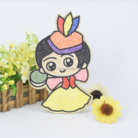 dancing girl snow caly diy toy/wooden gift for kids
