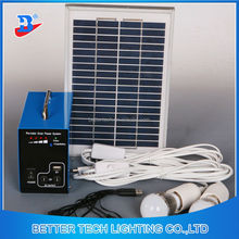 Manufacturer China Solar System Home Mini Portable Blue Shell Solar Energy Lighting System For Home Emergency Lighting