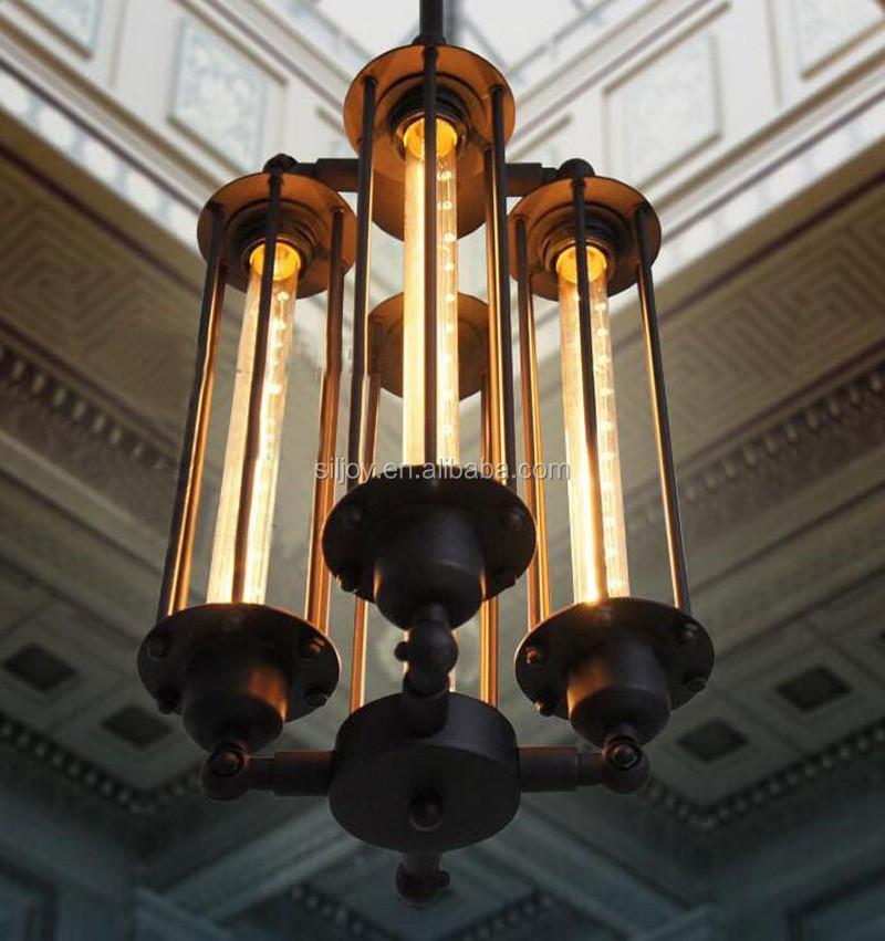 buy vintage pendant lamp american style industrial 4 bulbs l