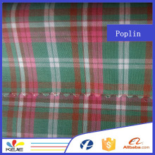 100% cotton yarn dyed woven shirting fabric in china