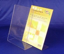 Hotel hosptial pop display stands acrylic sign holder