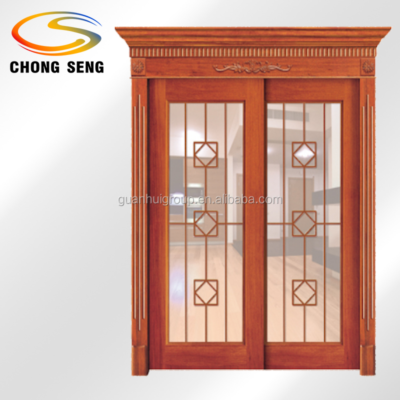 Double Glass Slid Craved Molding Out Door House