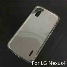 Soft TPU Silicon Transparent Clear Case for LG nexus4