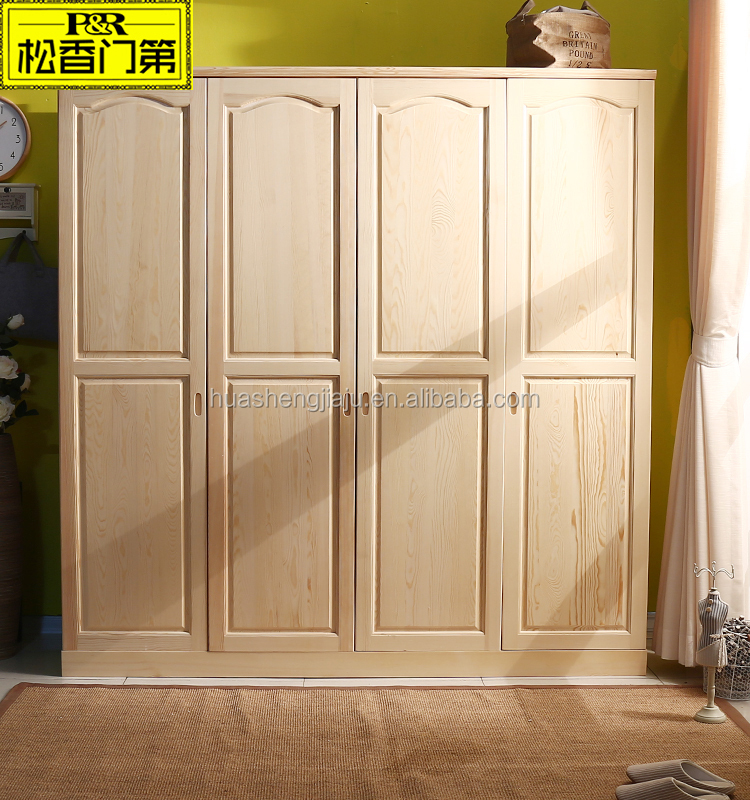 Cheap Solid Wood 4 Doors Wardrobe