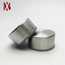 threaded stainless steel screw cap for sport water glass bottle without strap