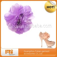 Light Purple Flower Shoes Accessories For