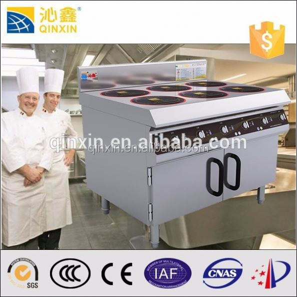 Stainless steel free standing indian restaurant kitchen equipments induction cooker efficiency than gas cooker/gas stove