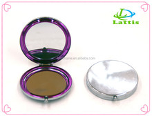 Wholesale Good Quality Stainless Steel Round Metal Silver fold pocket Mirror