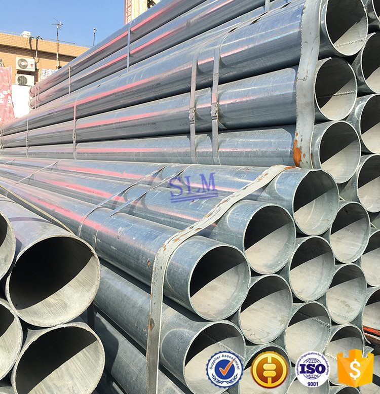 Price in china suppliers of shanghai Large diameter galvanized welded steel pipe Hot dip galvanized steel pipe