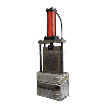 Screen changer for plastic extruder Application