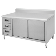 bench cabinet with drawers/ Stainless steel cupboard