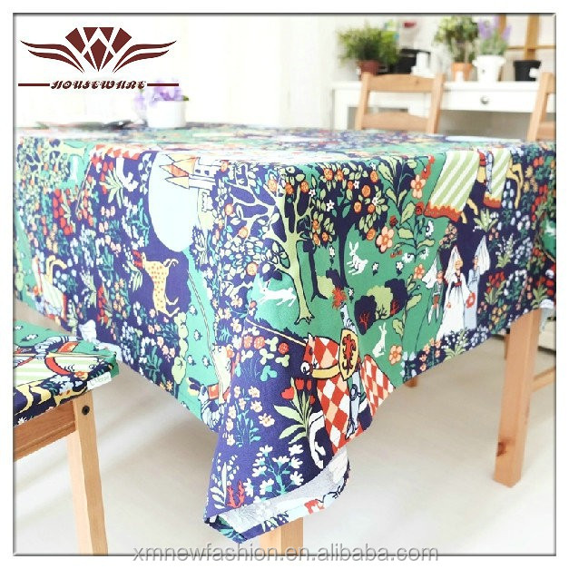 Fancy country side decorative laminated table cover