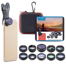 travel accessories 2018 Japan phone lens clip photography aluminum 10in1 camera lens kit