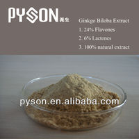 natural High quality Biloba P.E.used as memory and concentration enhancer.