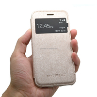 original view window leather cover case for iphone ,official leather wallet case for iphone