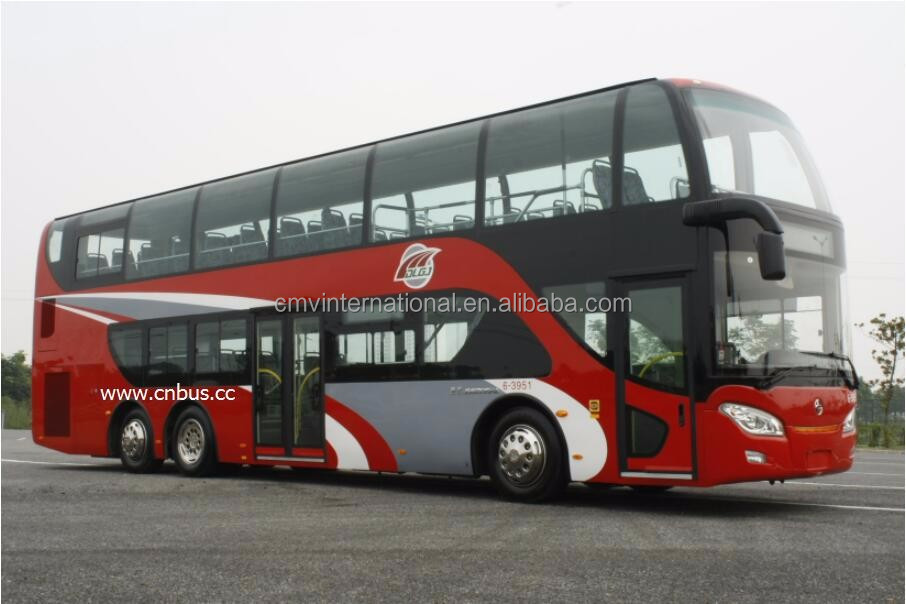 12.85m 76 seats double decker sightseeing tour bus