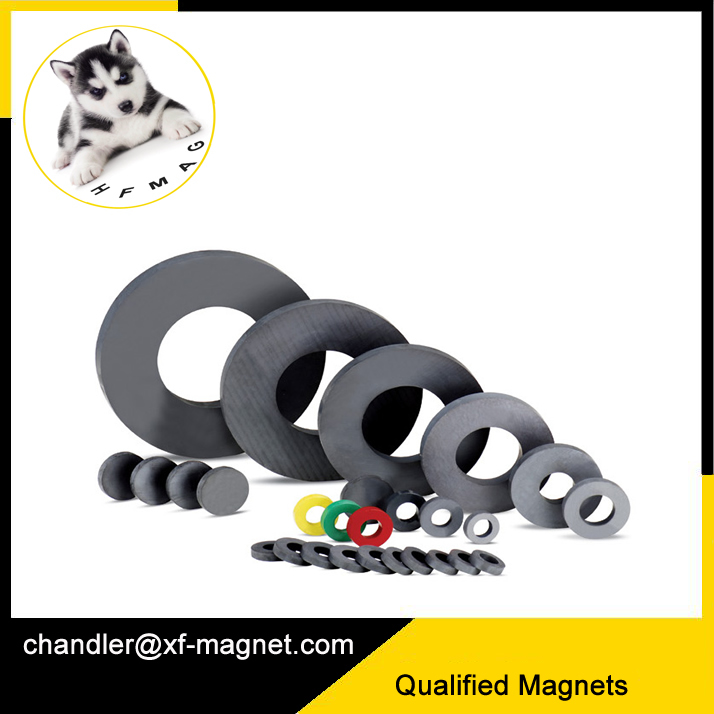 super strengh ferrite magnet ring injection moulded