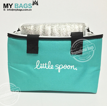 cheap customize logo print lunch tote cotton canvas cooler bag