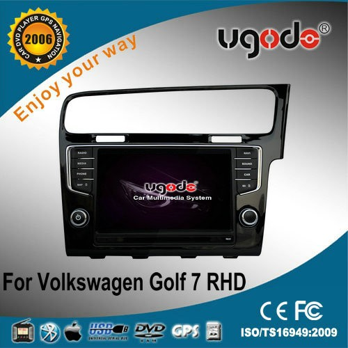 ugode two din VW Golf 7 car multimedia player right hand with GPS playe radio bluetooth IPOD USB SD