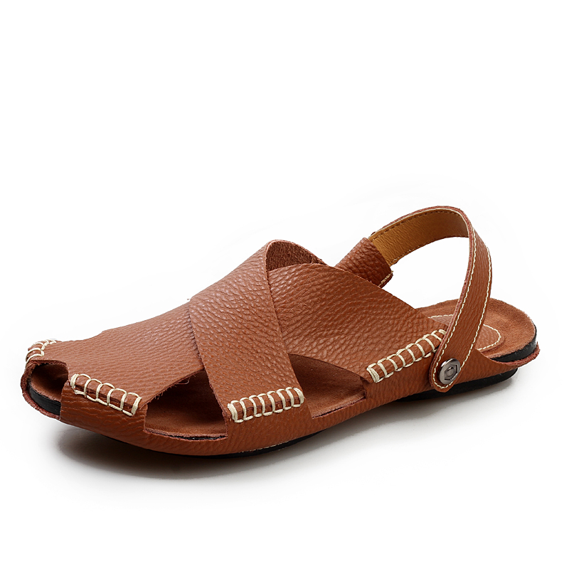Free Shipping <strong>Sandals</strong> Men Slippers Men Leather Sole <strong>Sandals</strong>