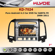 Factory Supply!! For Santa Fe Compatible With Usb Android Car DVD