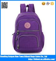 Cheap hot sale nylon solid primary school backpack book bag backpack for student