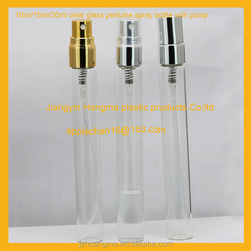 10ml 15ml 20ml glass perfume tube bottle, Atomizer Sprayer , sprayer bottle,