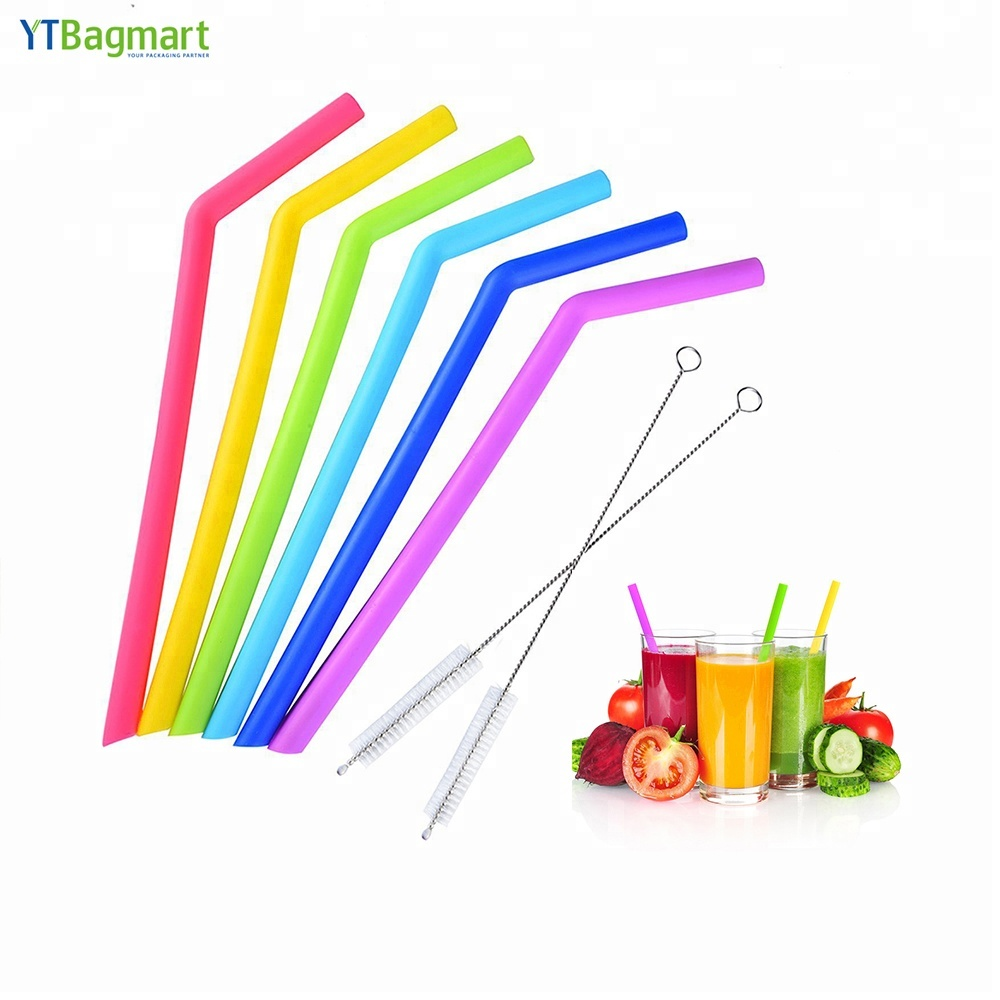 YTBagmart High Quality BPA Free Rubber Tumbler Drinking Big Reusable Silicone Straws