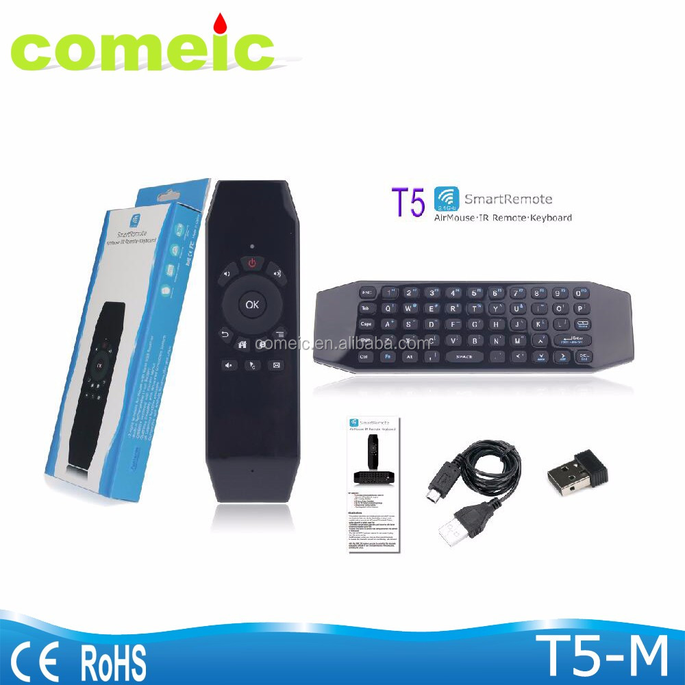 gyroscope mouse air keyboard with infrared remote control tv box remote