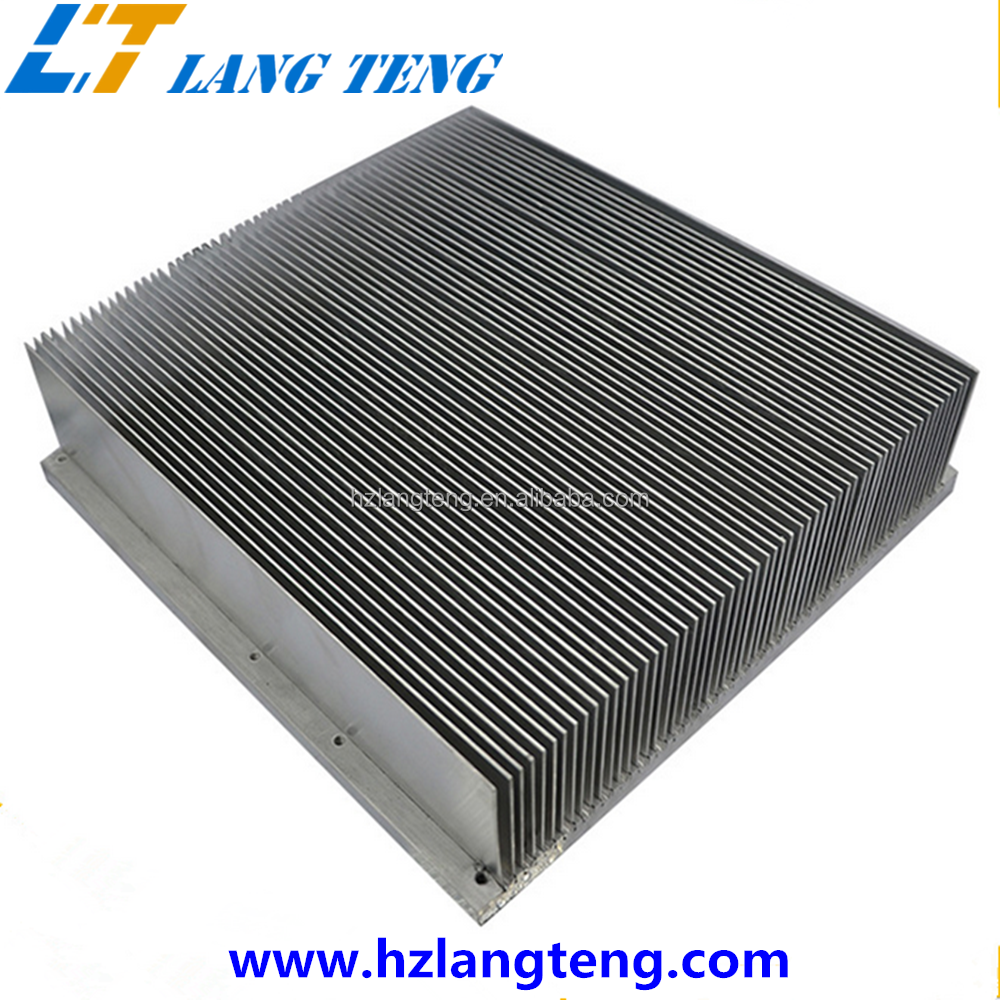 OEM Network Switch Extruded Aluminum Heatsink