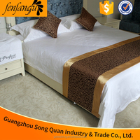 Hotel 5 star luxury gold bed runner rich blue scarf