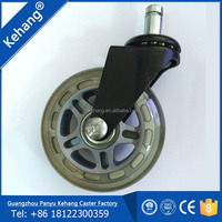 Factory price rollerblade transparent rubber office chair caster wheel 75mm