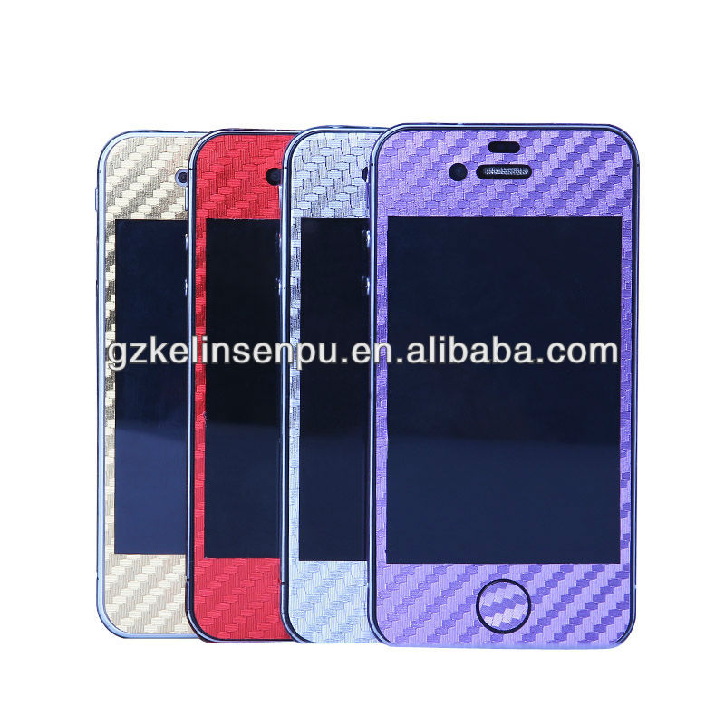 newest carbon fiber full body Screen protector factory, mobile phone full-body different colors screen guard