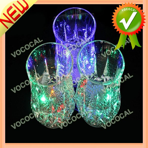 Colorful Water Induction LED Flash Party Pineapple Cup Transparent
