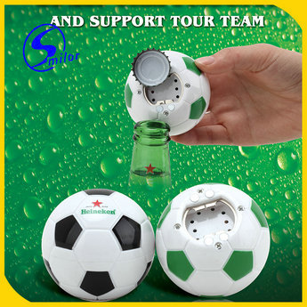 Supply Ecofriendly Football Type With Music Bottle Opener For Weddi