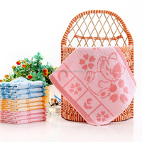jacquard hand towels soft small suqare towel for children
