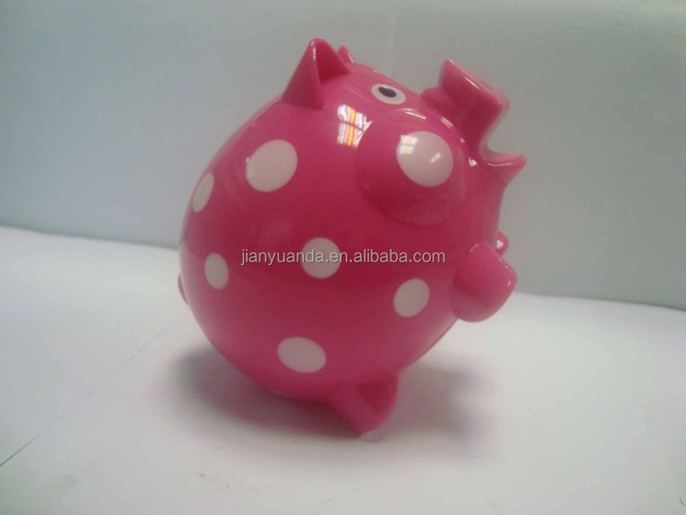 atm piggy bank / plastic cash box for saving / kids coin bank with lock