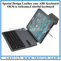 LBK158 For ipad air 5 Russian layout keyboard keyboard cover leather PU case stand detachable wireless keyboard