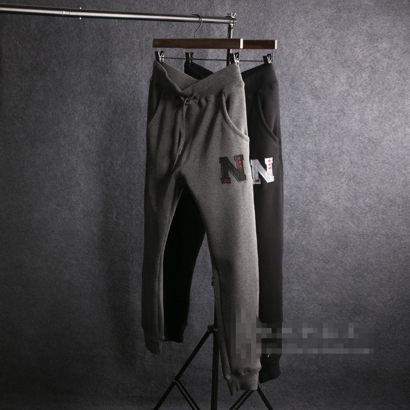 Young men polyester sports casual pants