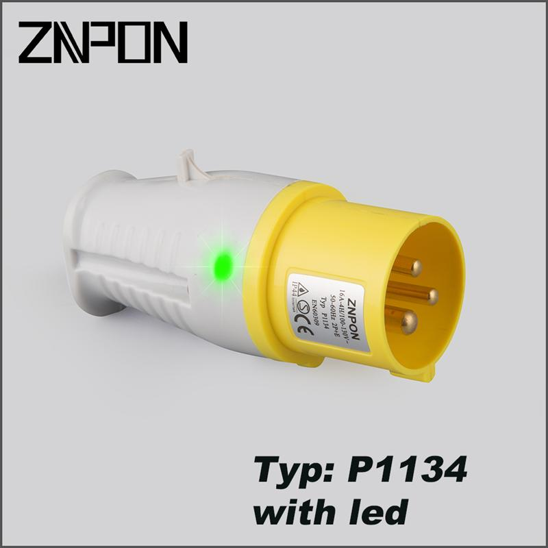 Water proof 3 pin plug top P1134 with led