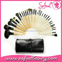 Pro 32 pcs Black Makeup Cosmetic Brush Set Kit
