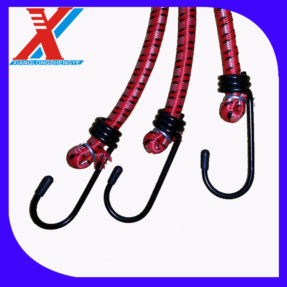Good quality best price bungee cord belts with hooks for luggage