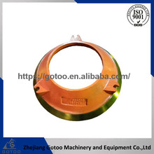 gualified manganese steel pegson steel casting cone liner