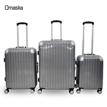 High quality factory supplier 20 24 28 inch 100% PC aluminium hard shell trolley suitcase