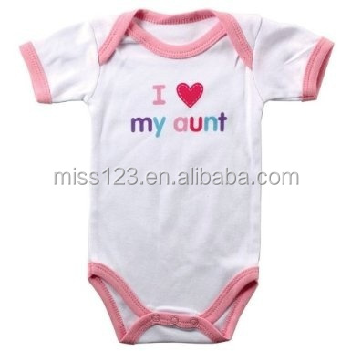2015 Hot Sale 100% Cotton lovely Carter Amour Baby Bodysuits