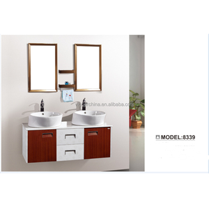 Furniture for Bathroom High Quality Double Sink Bathroom Mirror Vanity Cabinet # BV-8339