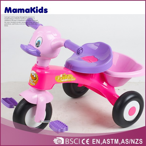 Cartoon plastic kids trikes hot-selling adjustable tricycle for children