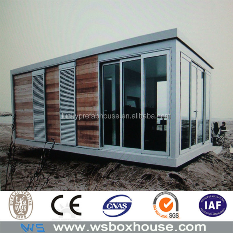 prefab glass wall portable 20ft container office