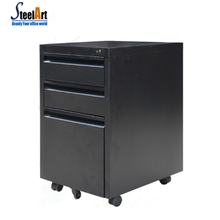 Space-saving office filing cabinet steel 3 drawer mobile pedestal cabinet movable mobile cabinet
